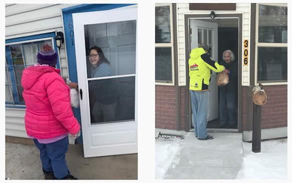 Delivering meals to seniors